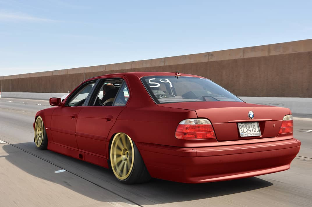 Pic request stanced red cars with gold wheels for Red with gold