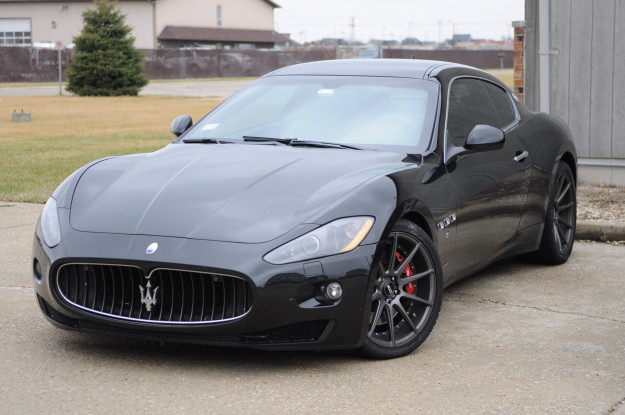 2009 Maserati Granturismo 4.7 Black oil change naperville chicago filter BMC Cleaning Service Maintenance black red brakes exterior outside