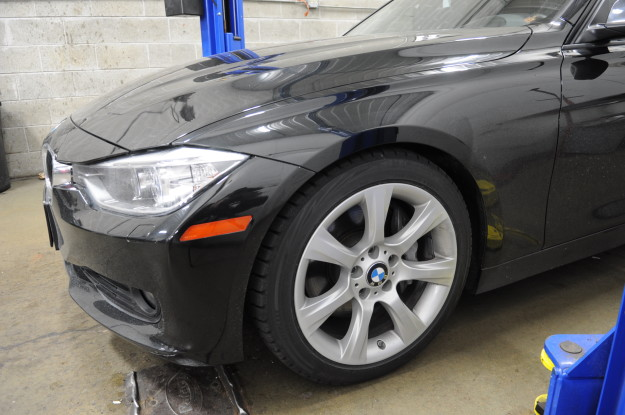 2012 BMW 335i F30front H_R lowering springs install sport suspension drop exterior