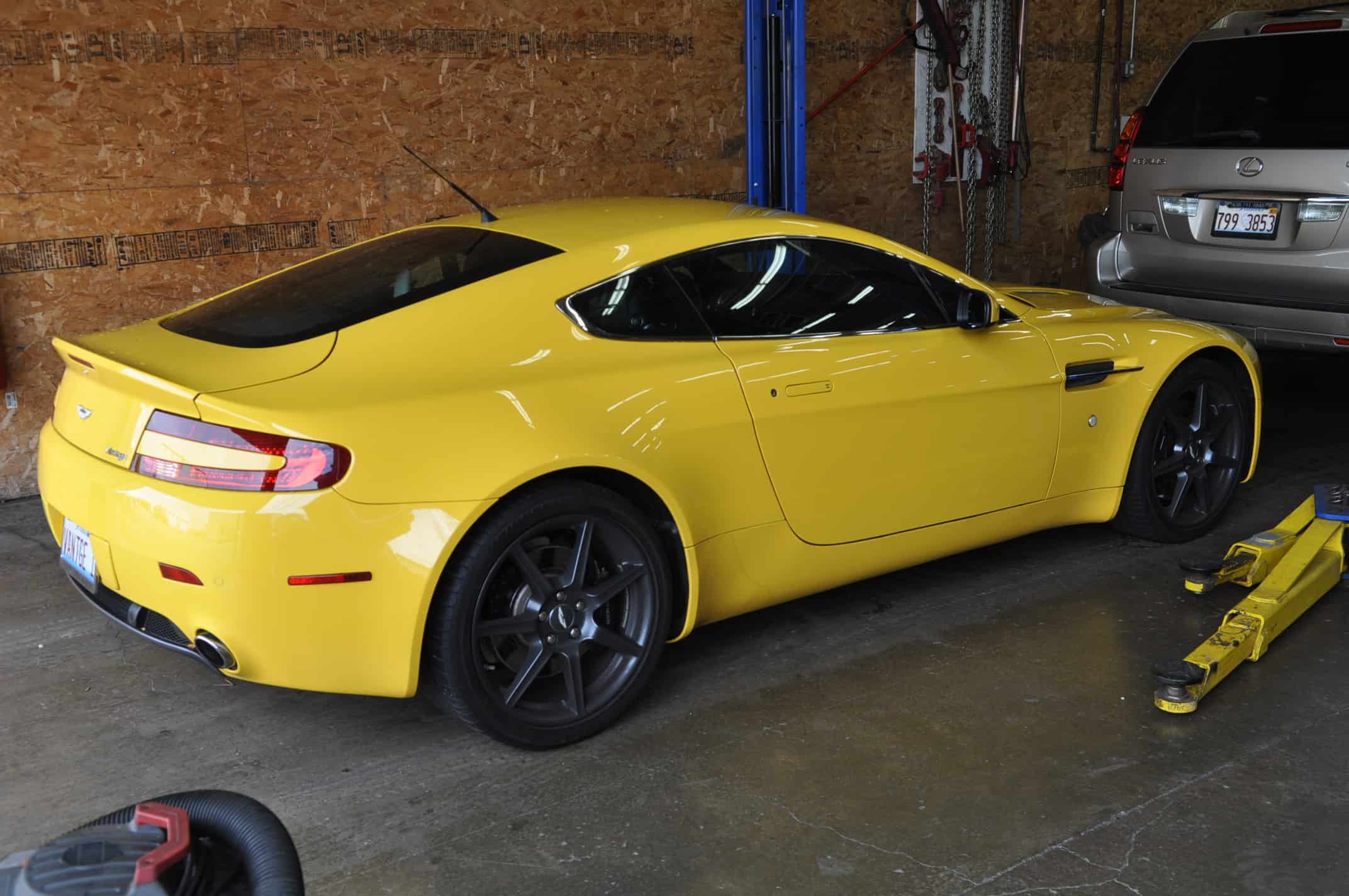 Aston Martin V Vantage Sunburst Yellow Oil Change Fluid Flush - Aston martin vantage maintenance