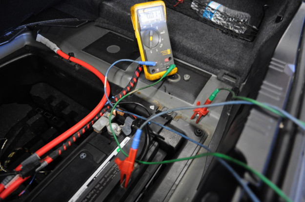 BMW E60 M5 Battery dead Draw test setting up your meter