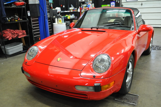 1995 porsche 911 carrera 993 c2 cabriolet red automatic transmission battery replacement exterior front