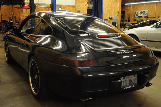 2001 Porsche 911 carrera 996 fisker exhaust muffler bypass pipes modification cheap exhaust horsepower exterior black facelift bumper carbon fiber rear tinted taillights