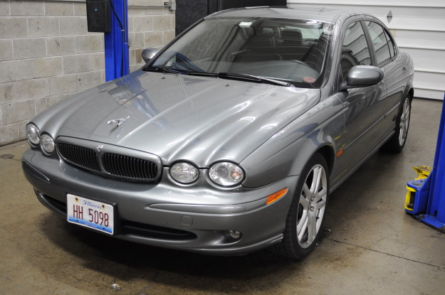2004 jaguar x type 3.0 v6 rear suspension noise control arm rusted problem bushing alignment seized grey front exterior