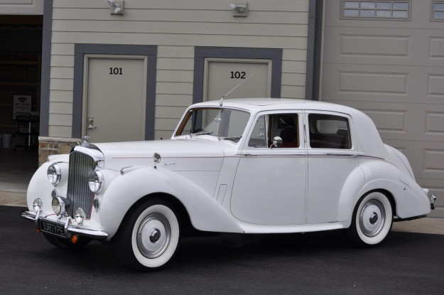 bentley type 53 r white rare side view