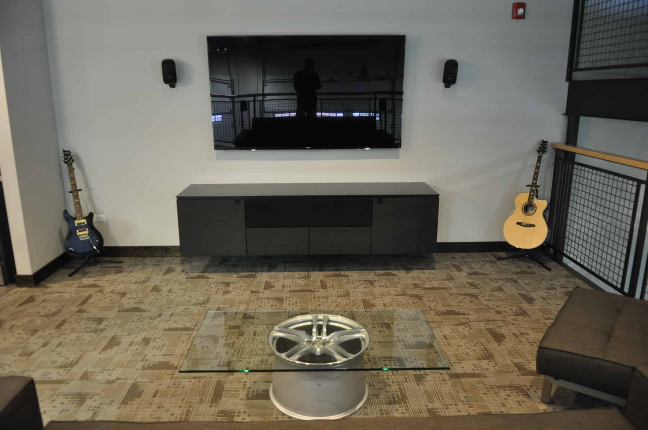 11 Jun Iron Gate Motor Condo Flat Screen Television Coffee Table Wheel  Second Floor Finished Product
