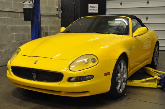 2003 Maserati Spyder Cambiocorsa 4200GT convertible  Granturismo Yellow service repair and maintenance in chicago naperville and plainfield fluid MotorUnion