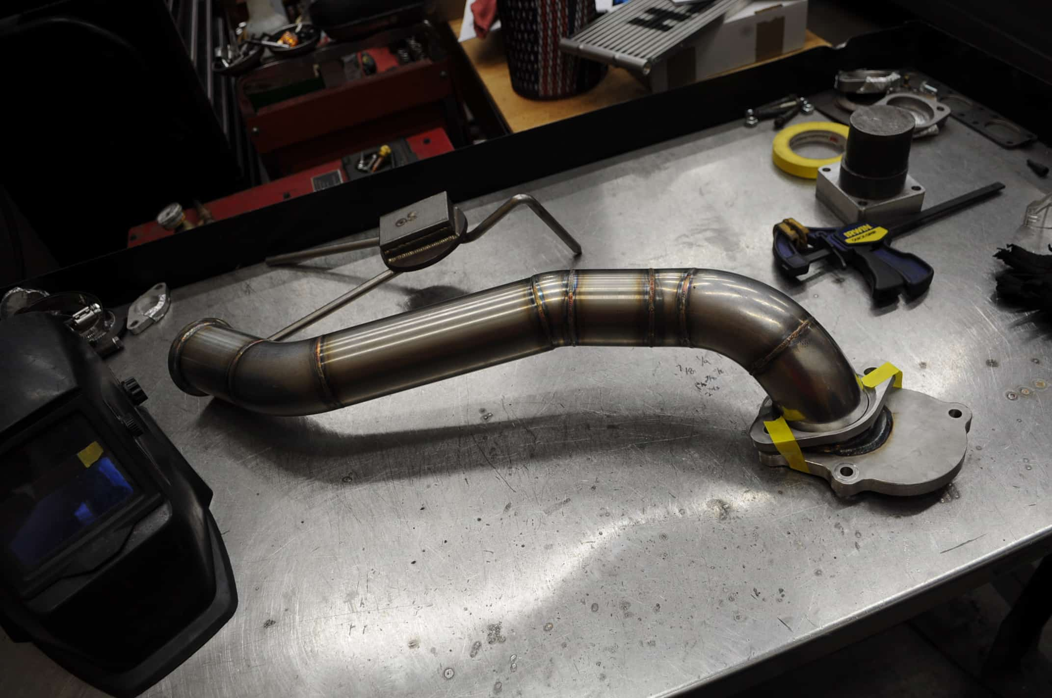 Chevrolet Corvette C7 Cat Delete Pipe Fabrication (16) - Car