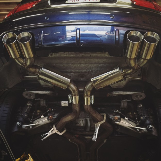 BMW X5M Exhaust : Custom Fabrication By Fluid MotorUnion