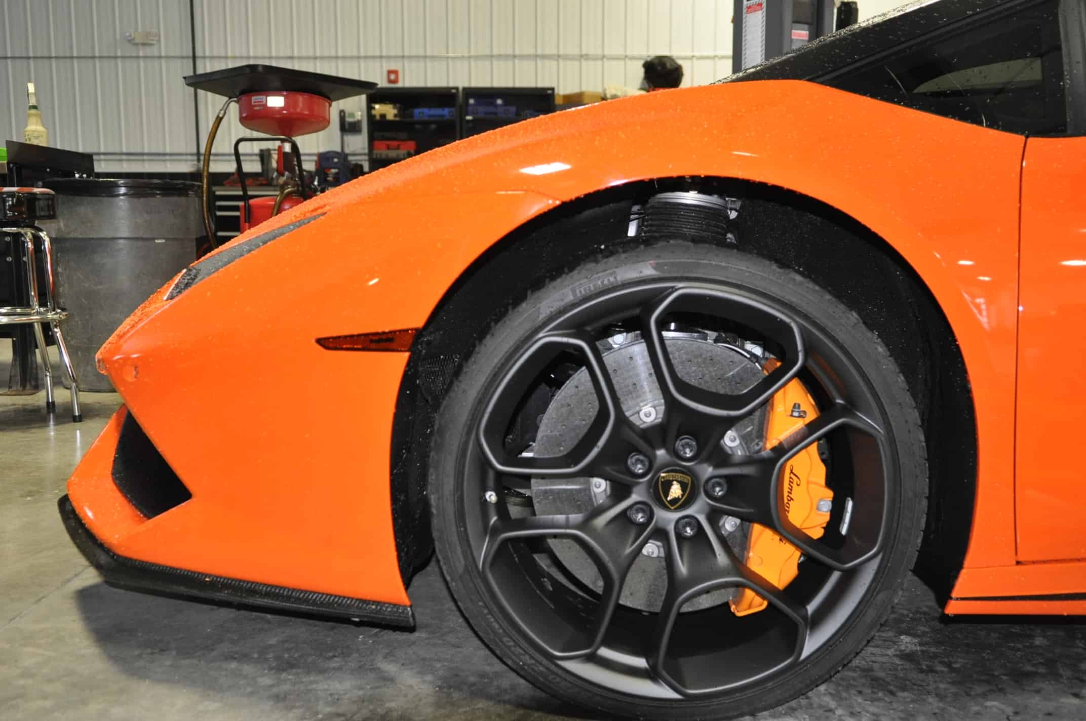 Powdercoat Lamborghini Naperville Orange Service Chicago