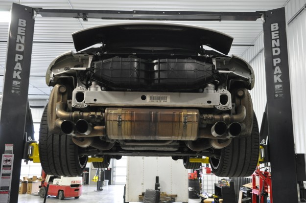 993 991 Porsche custom fabricated exhaust factory rear section