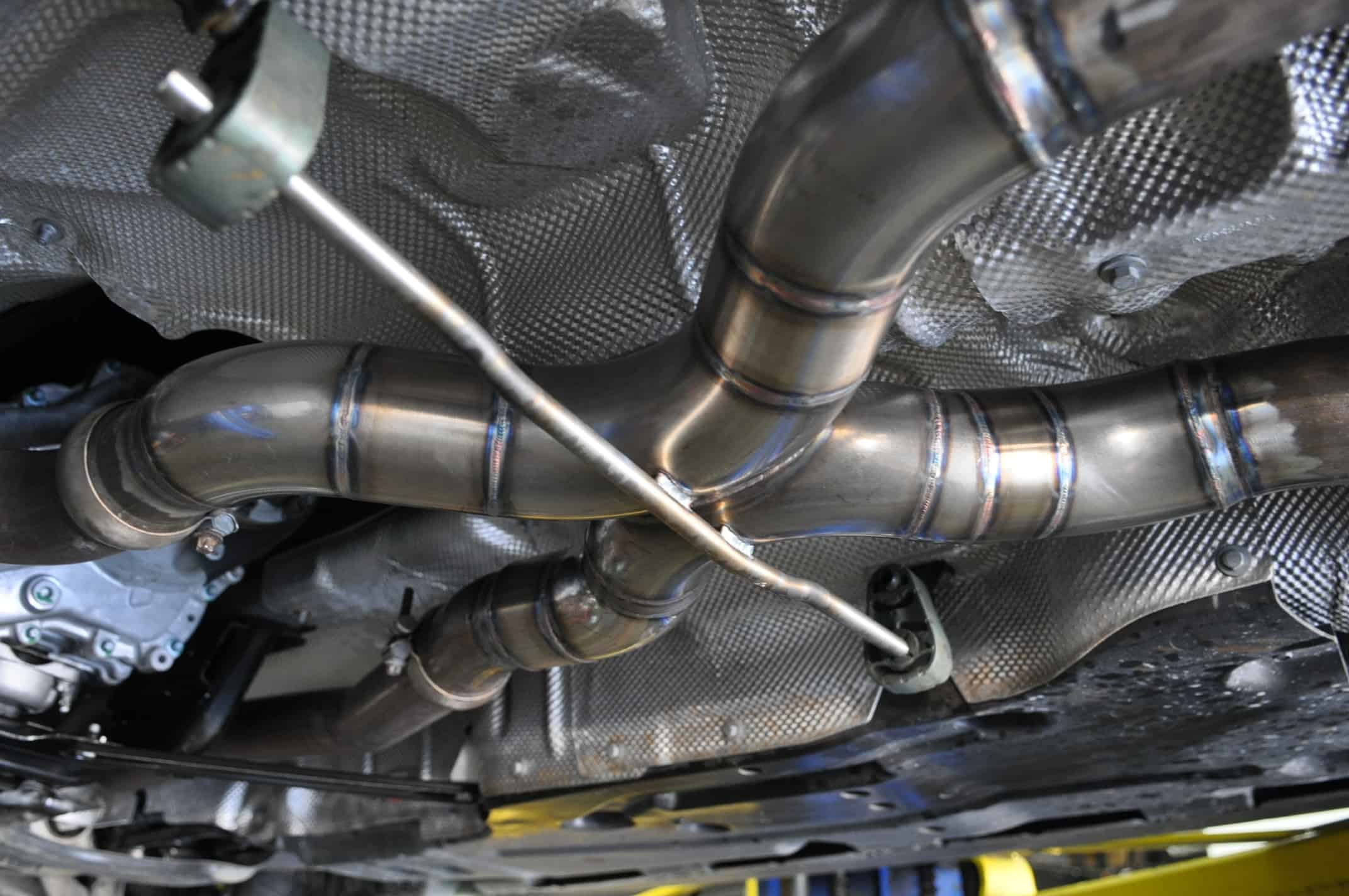 ML63 AMG BI-Turbo X-Pipe Fabrication - Car Repair