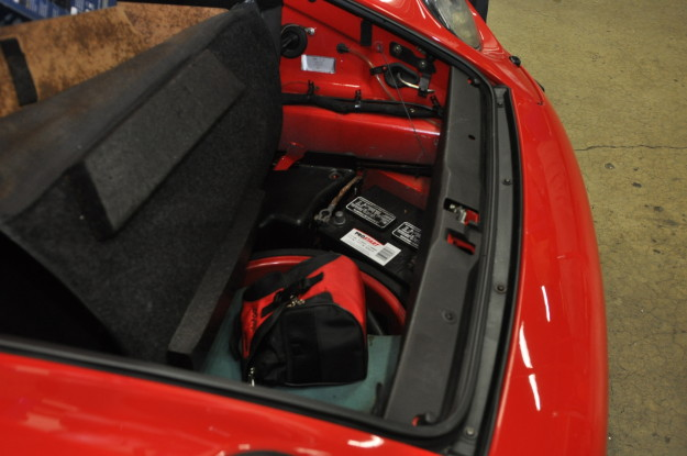 1995 porsche 911 carrera 993 c2 cabriolet red automatic transmission battery replacement exterior carpet hood