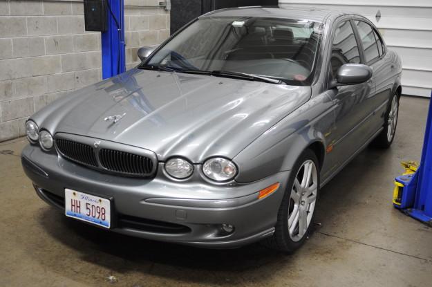 2004 jaguar x type 3.0 v6 rear suspension noise control arm rusted problem bushing alignment seized grey front exterior