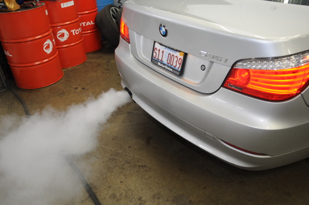 2009 535 xi x drive 6 cylinder twin turbo n54 p0302 misfire fuel pressure white smoke exhaust rough run tail pipe