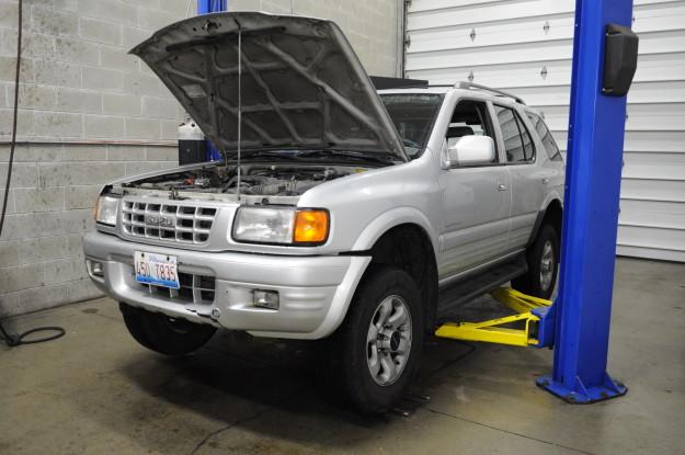 1999 Isuzu Rodeo emission failure OBD P0133 front end oxygen sensor