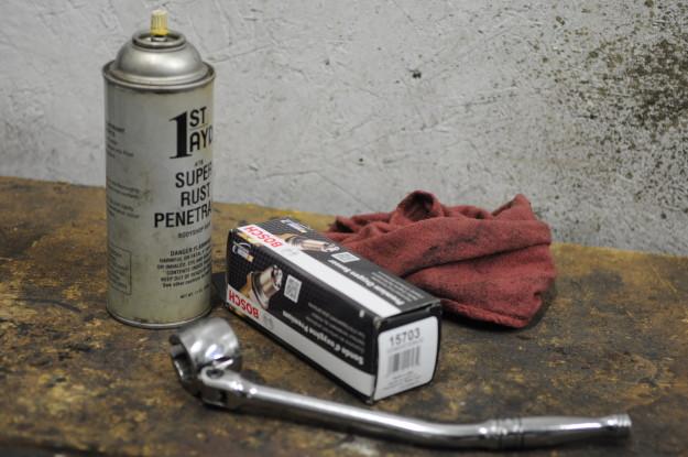 1999 Isuzu Rodeo emission failure OBD P0133 front end oxygen sensor Bosch 15703 bank 1 upstream o2 socket seized