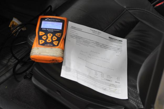 1999 Isuzu Rodeo emission failure OBD P0133 front end oxygen sensor Scanner faults