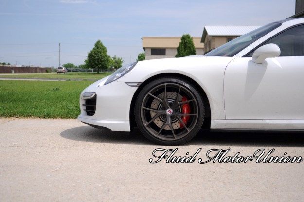 10 991 Porsche 911 Turbo Pagid Yellow Brake Pad Install porsche service HRE wheels