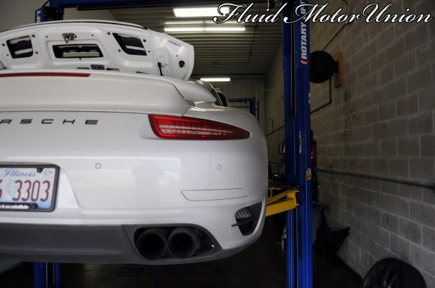 2 991 Porsche 911 Turbo Pagid Yellow Brake Pad Install Exhaust