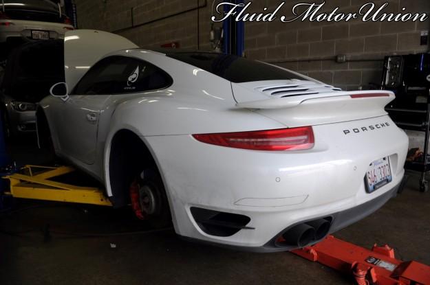 4 991 Porsche 911 Turbo Pagid Yellow Brake Pad Install porsche brake service