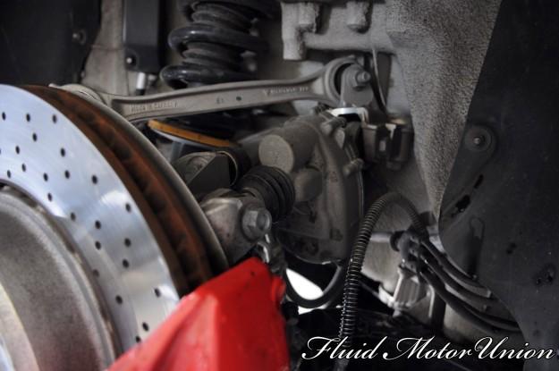 7 991 Porsche 911 Turbo Pagid Yellow Brake Pad Install rear axle steering