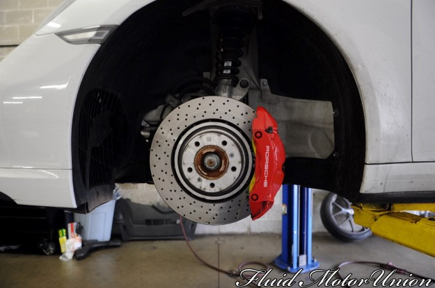 8 991 Porsche 911 Turbo Pagid Yellow Brake Pad Install porsche service