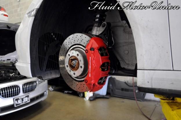 9 991 Porsche 911 Turbo Pagid Yellow Brake Pad Install porsche service chicago