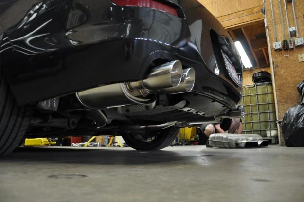 BMW 650i XDrive megan racing exhaust install (7)