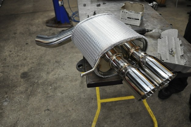 BMW 650i XDrive megan racing supremo exhaust install (3)