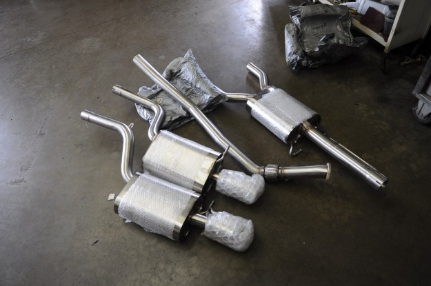 Audi A4 Billy Boat Cat Back Exhaust System Install 2