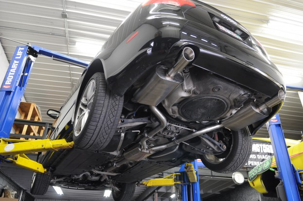 Audi A4 Billy Boat Cat Back Exhaust System Install 5