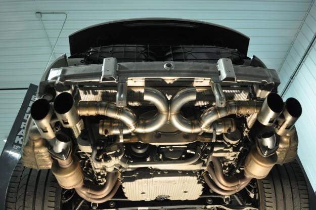 Porsche 911 Carrera Custom Exhaust Fabrication being built