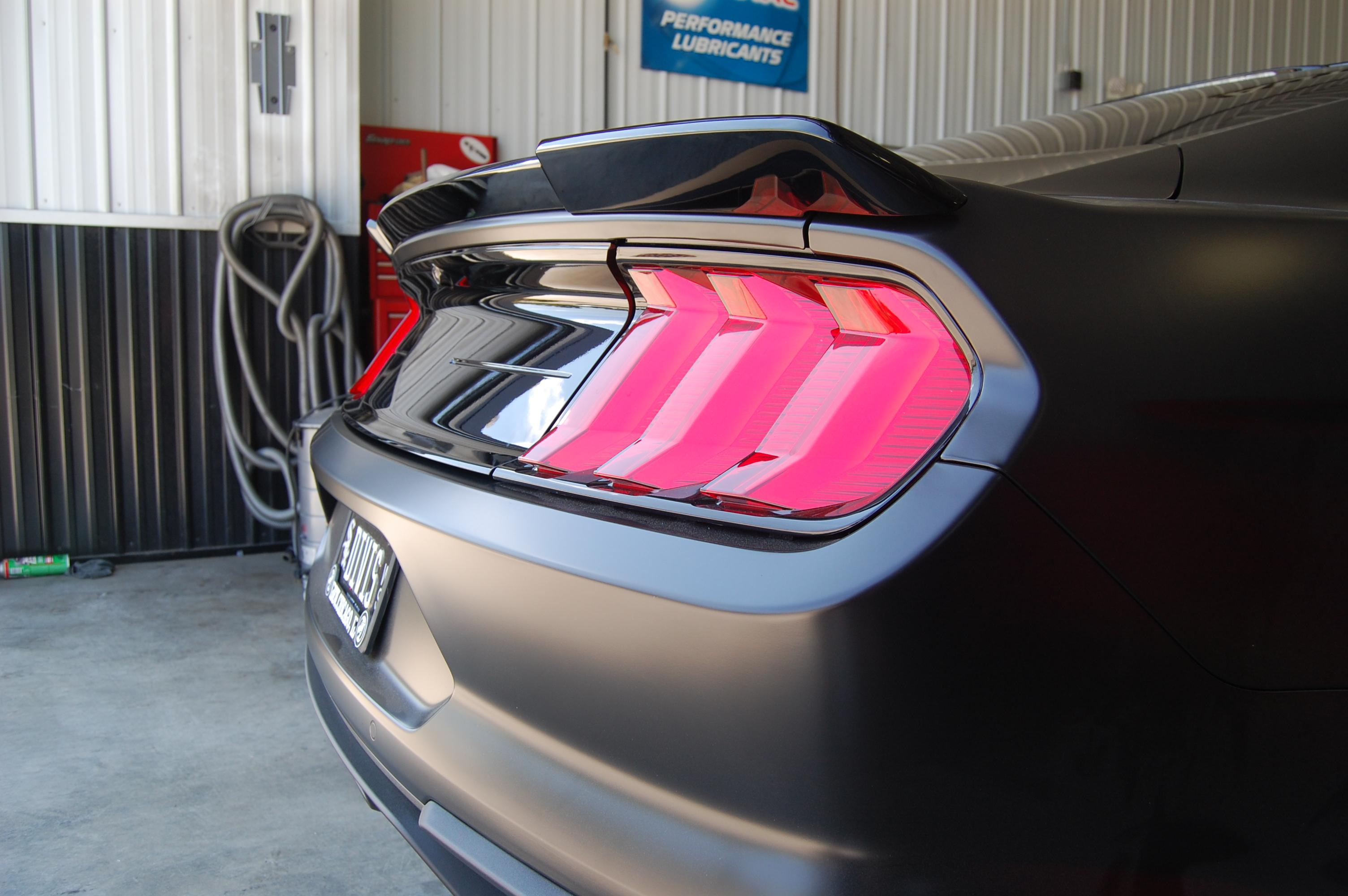ROUSH Mustang Rear Spoiler Install Mechanic Naperville (4)