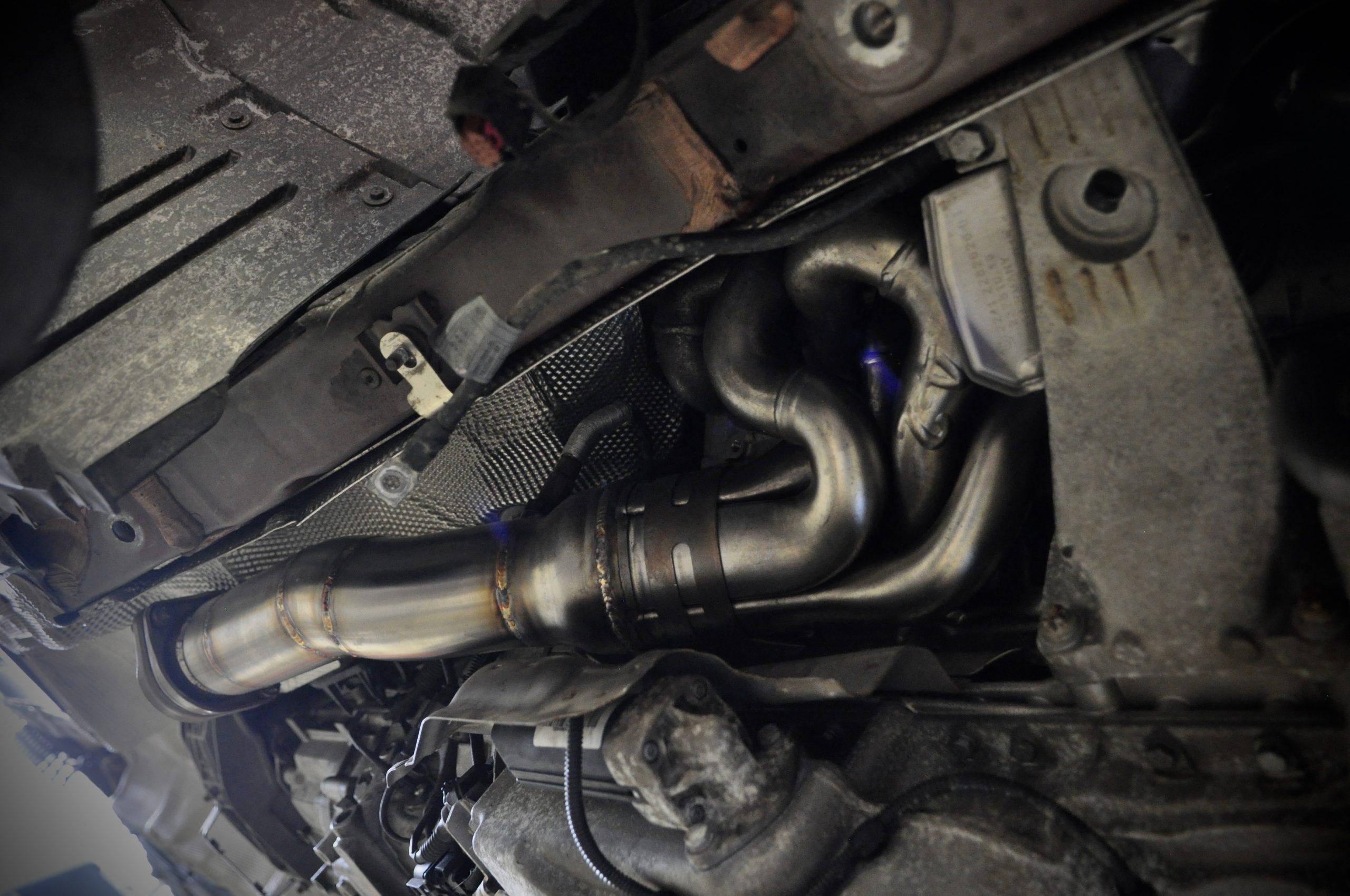 E60 M5 Headers (Installed)