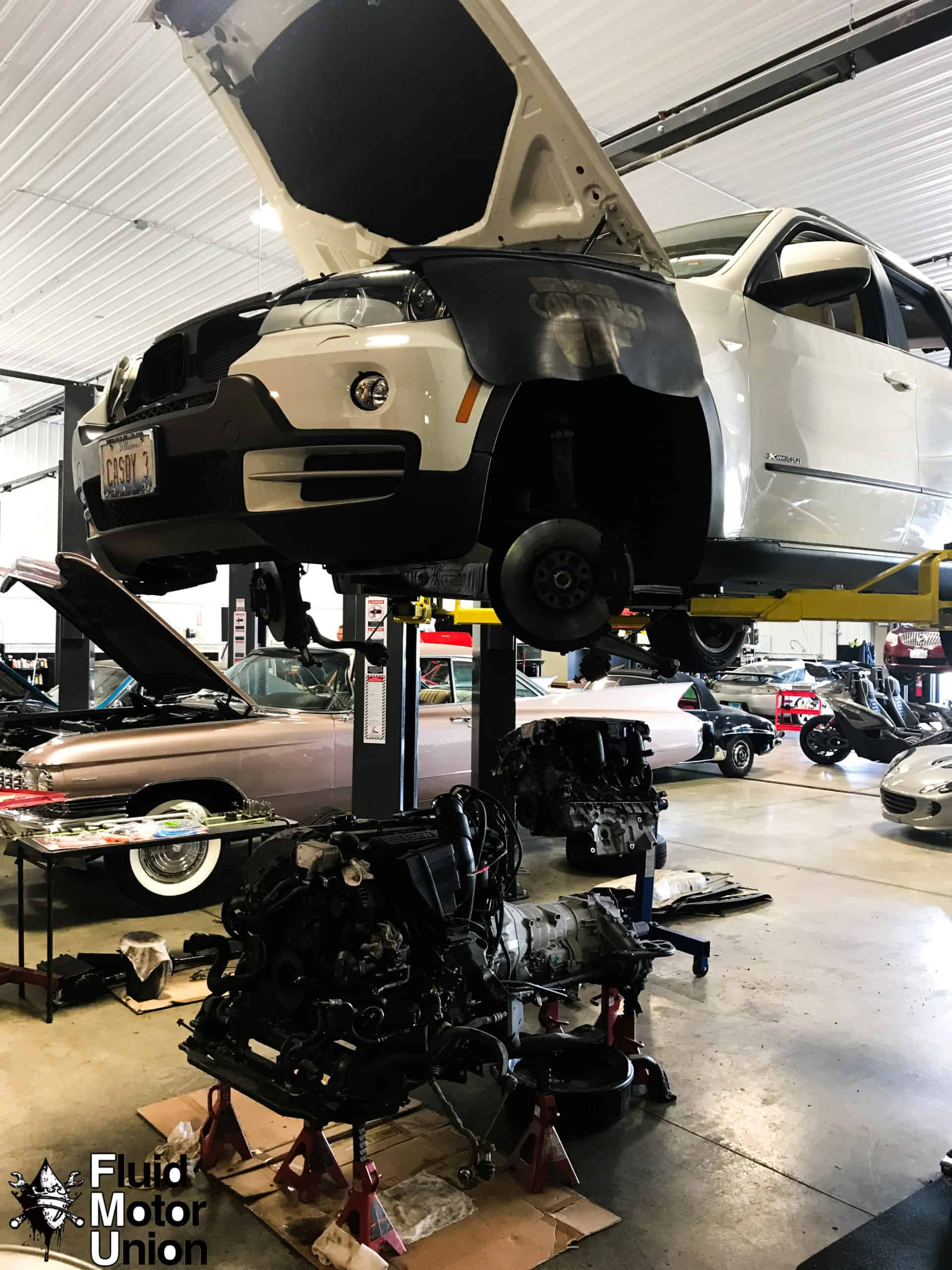 Engine Replacement on a BMW x5 removed